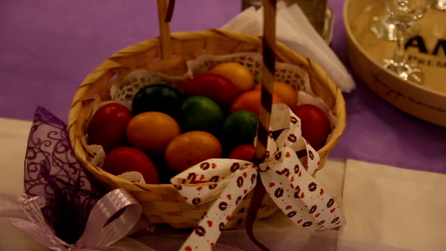 Easter Eggs on Event Table