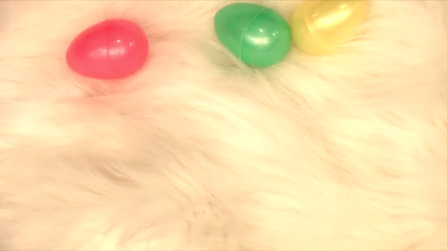 easter eggs (hd,ntsc) - soft blanket stock videos and b-roll footage