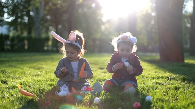easter holiday celebration - toddler stock videos & royalty-free footage