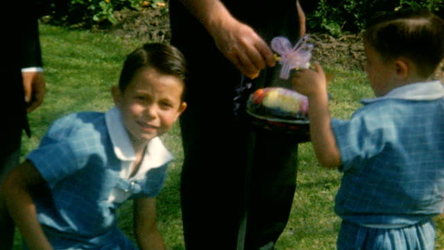 easter holiday on april 09 1950 in north hollywood california - easter stock videos & royalty-free footage