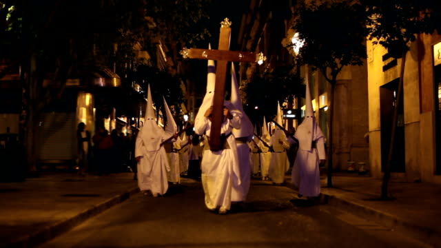 easter in spain - procession - religious celebration stock videos & royalty-free footage