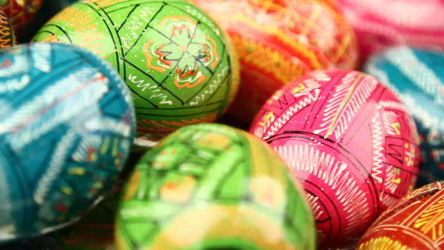 easter painted eggs background - loopable - resurrection religion stock videos & royalty-free footage
