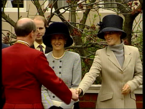 easter sunday; 22.40 annabel roberts itn-sky-bbc pool england: windsor: st george's chapel: ext queen elizabeth ii & prince philip, the duke of... - canterbury cathedral stock videos & royalty-free footage