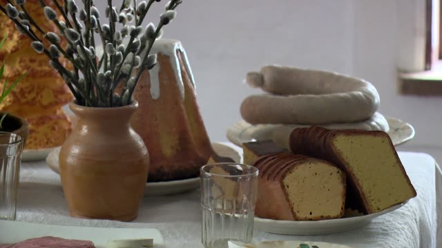 easter table - table stock videos & royalty-free footage