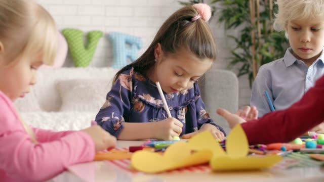 easter themed - kids art - art stock-videos und b-roll-filmmaterial