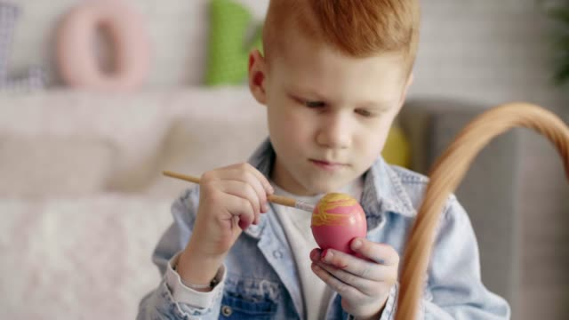 easter themed - kids art - dye stock videos & royalty-free footage