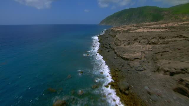 Eastern coastline of Montserrat Island.