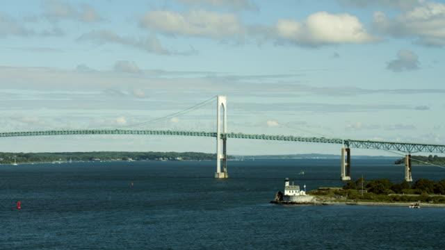 stockvideo's en b-roll-footage met eastern end of newport bridge in ri - eastern european culture