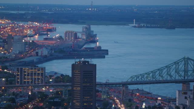 Eastern Montreal at sunset