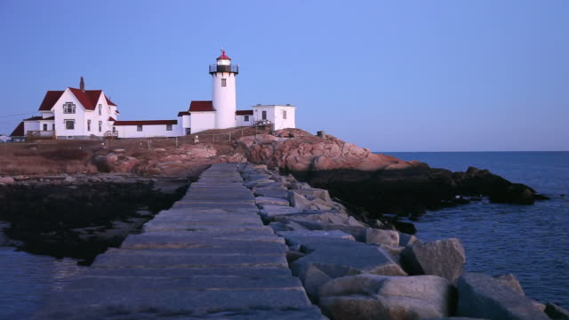 eastern point lighthouse - gloucester massachusetts stock videos & royalty-free footage