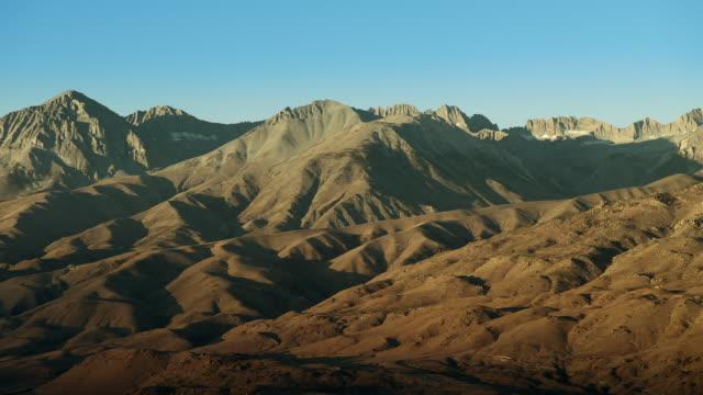 eastern sierra nevada foothills and mountains. - basin and range province stock videos and b-roll footage