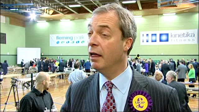 lib dems narrowly hold seat 2822013 hampshire eastleigh diane james hugged by supporter following results announcement nigel farage mep looking on... - diane james politik stock-videos und b-roll-filmmaterial