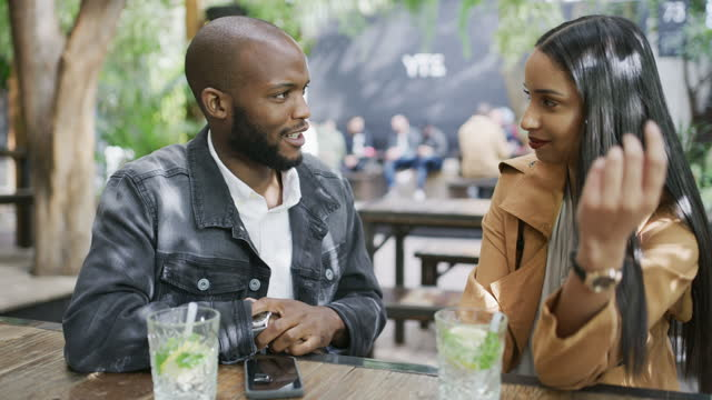 easy conversation goes a long way towards compatibility - girlfriend stock videos & royalty-free footage
