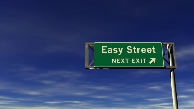 easy street - freeway exit sign - smooth stock videos & royalty-free footage