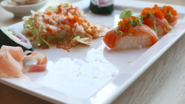 Eat sushi time lapse