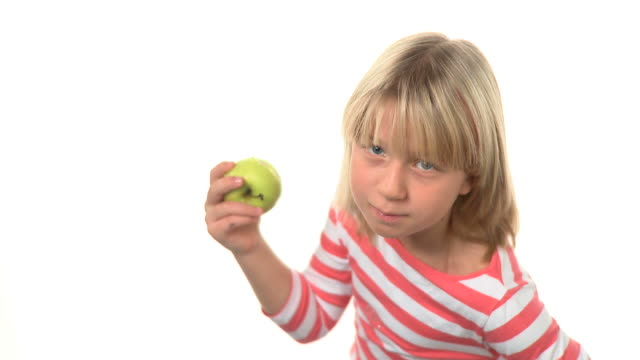 hd: eating an apple - children only stock videos & royalty-free footage