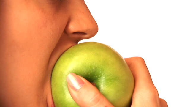 hd: eating an apple - chewing stock videos & royalty-free footage