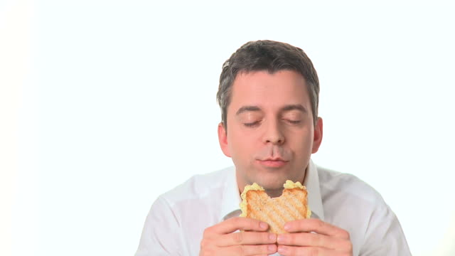 hd: eating bread - chewing stock videos & royalty-free footage