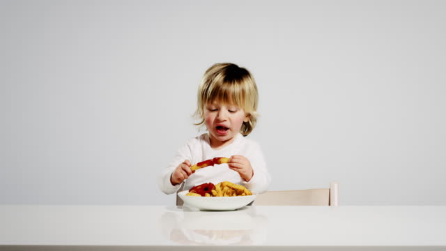 eating child - human mouth stock videos & royalty-free footage