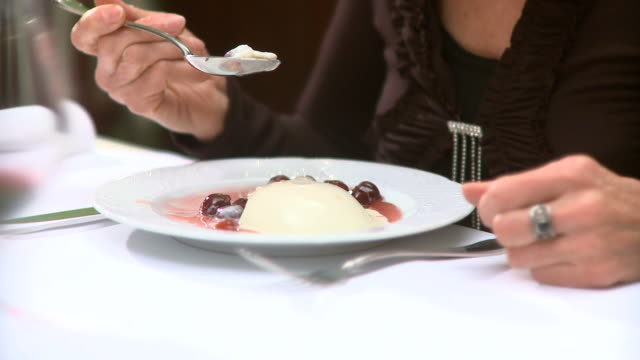 hd: eating dessert - dessert stock videos & royalty-free footage