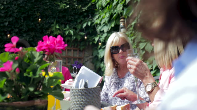 Eating in the Garden with Friends