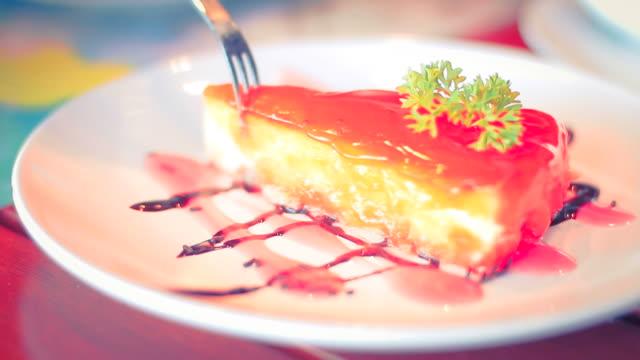 Eating Strawberry Cake