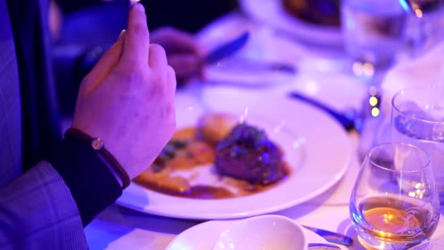 eating stylish food - silver service stock videos & royalty-free footage