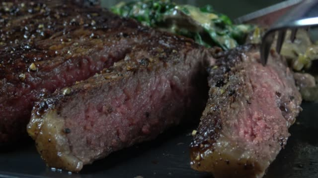 eating wagyu steak - grass fed stock videos & royalty-free footage