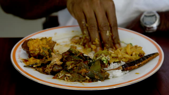 eating with hand - ugliness stock videos and b-roll footage