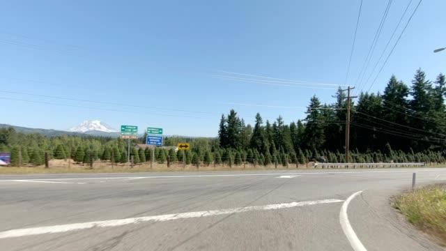 vídeos de stock e filmes b-roll de eatonville country xxii synced series front view driving process plate - estrada secundária