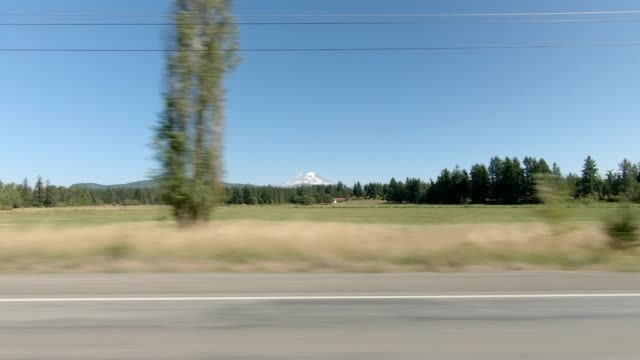 eatonville country xxii synced series left view driving process plate - mt rainier stock videos & royalty-free footage