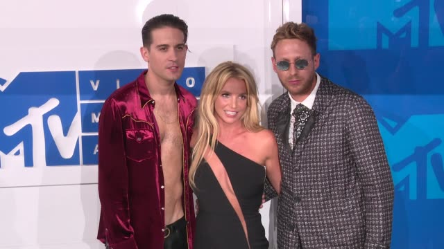 G Eazy Britney Spears at 2016 MTV Video Music Awards Arrivals at Madison Square Garden on August 28 2016 in New York City