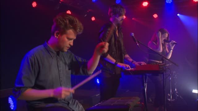 ebba tove elsa nilsson more commonly known as tove lo brings her trance pop sound to jbtv as she plays song 'habits' - rock group stock videos & royalty-free footage