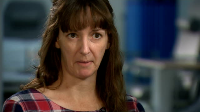 pauline cafferkey leaves hospital after recovering from ebola; england: west london: int pauline cafferkey interview sot - had a lovely doctor who... - doctor who stock videos & royalty-free footage