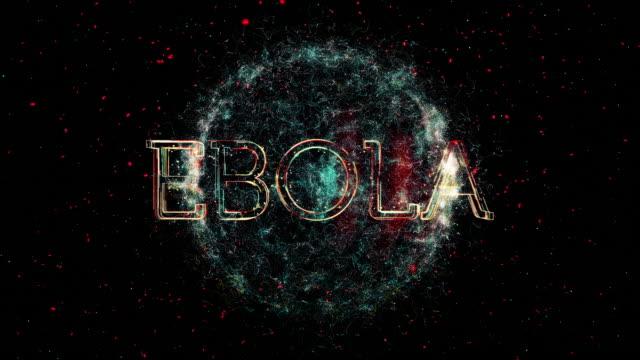 ebola title animation - disease vector stock videos & royalty-free footage