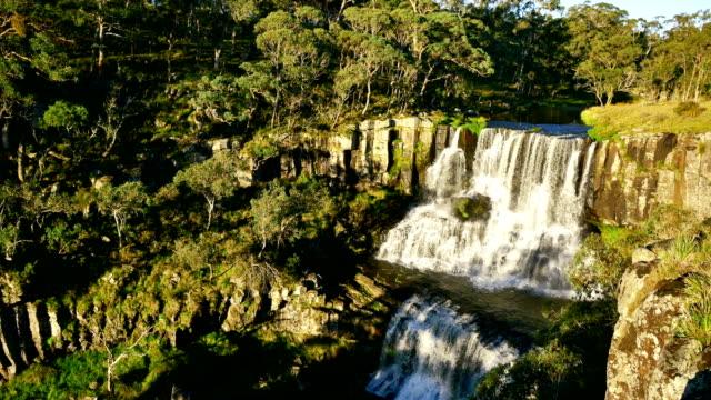 ebor falls, nsw, australia - new south wales stock videos & royalty-free footage