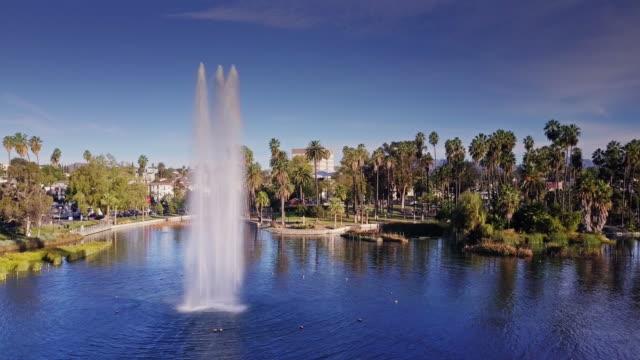 Echo Park Lake Fountain