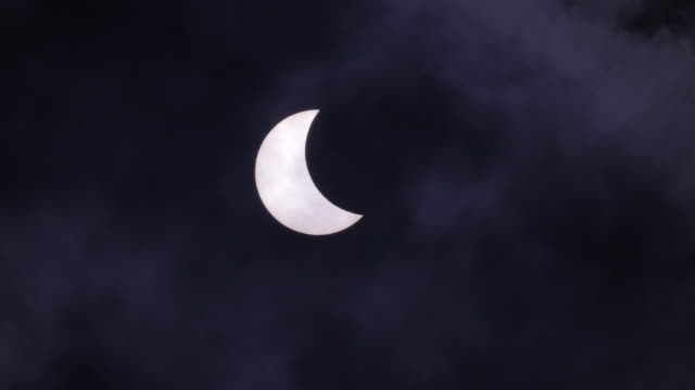 Eclipse and clouds