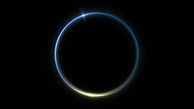 vidéos et rushes de eclipse light, abstract lens flare ring background. - faisceau de lumière