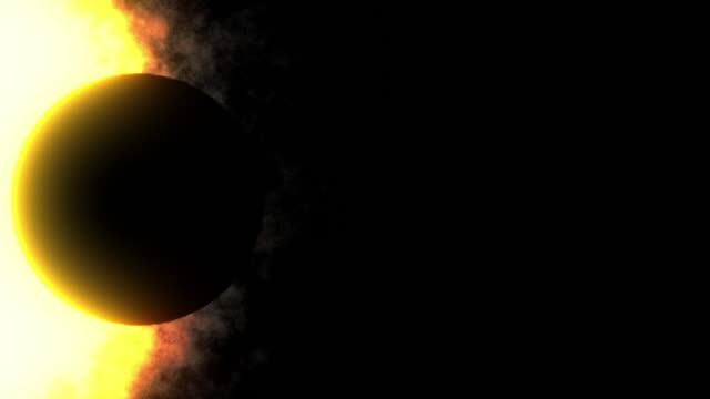 eclipse - orange - science fiction film stock videos & royalty-free footage