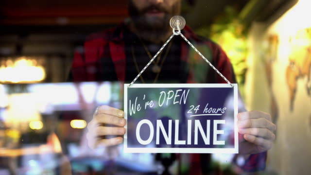 e-commerce store sign - store sign stock videos & royalty-free footage