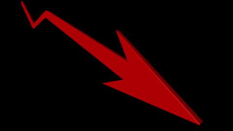 stockvideo's en b-roll-footage met economic downturns and upturns arrows with matte - arrow symbol