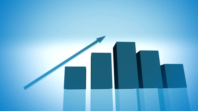 economic growth graphic (hd) - graph stock videos & royalty-free footage