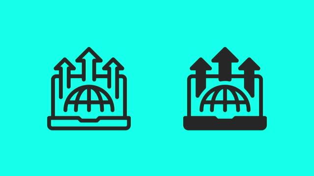 wirtschaftswachstumssymbole - vector animate - zielgruppe stock-videos und b-roll-filmmaterial