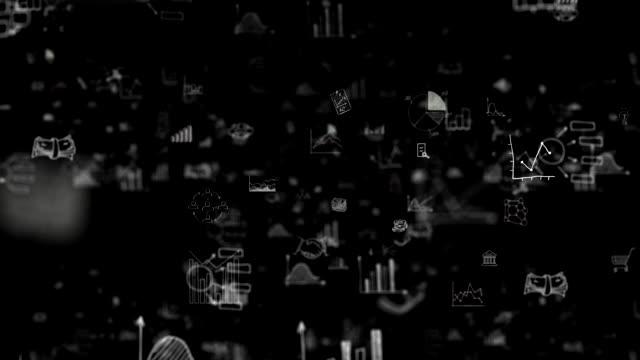 vídeos de stock e filmes b-roll de economics background loop - fórmula