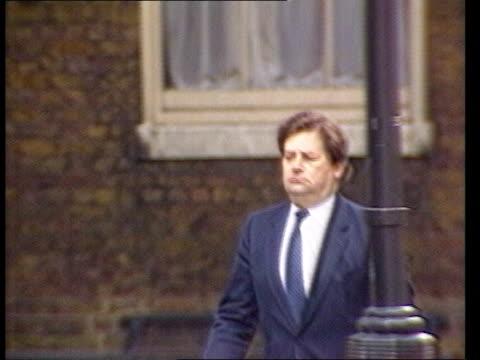 Autumn Financial Statement ITN MS Chancellor Nigel Lawson along PAN RL