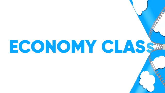 economy class. travel and tourism concept banner. - economy class stock videos & royalty-free footage