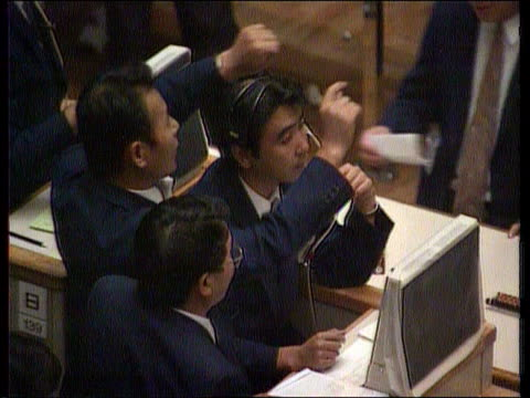 economy japan tokyo seq stock exchange - economy stock videos & royalty-free footage