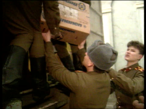 Econonomic situation and G7 INT CMS Soviet soldier unloading CMS Another ditto CMS Others unloading boxes CMS Ewart i/c SOF sign off