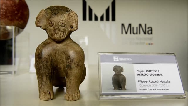 ecuador displays 13 pre columbian archaeological pieces at the national museum in quito after they were recovered from germany where they were set to... - pre columbian stock videos & royalty-free footage